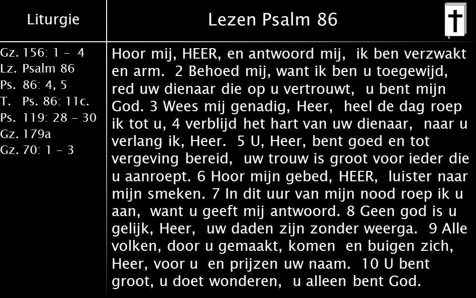 Lezen Psalm 86