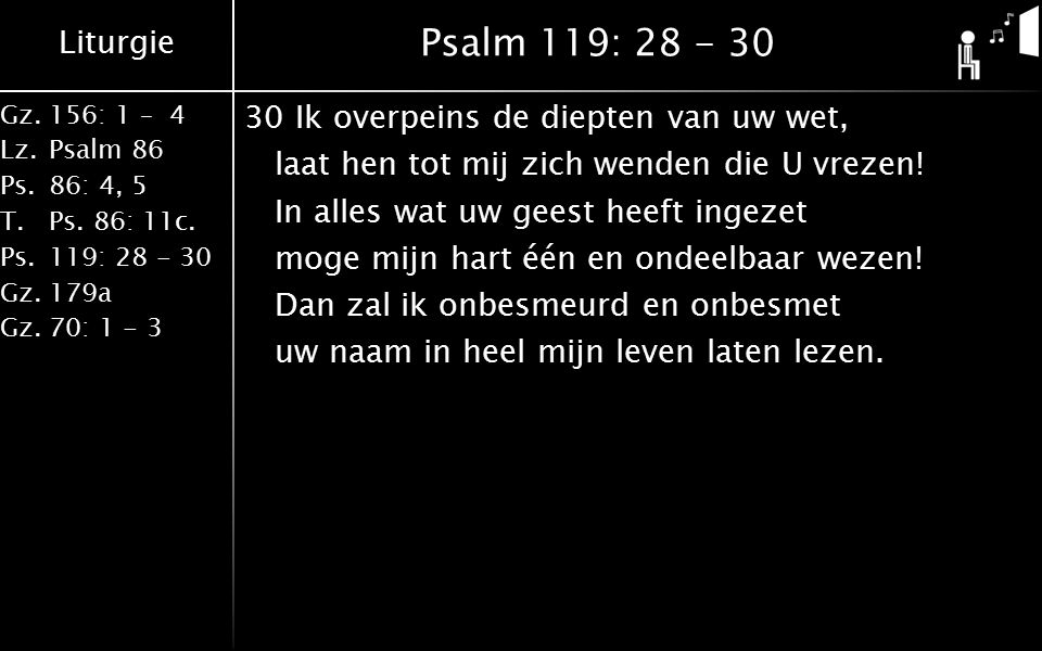 Psalm 119: 28 - 30