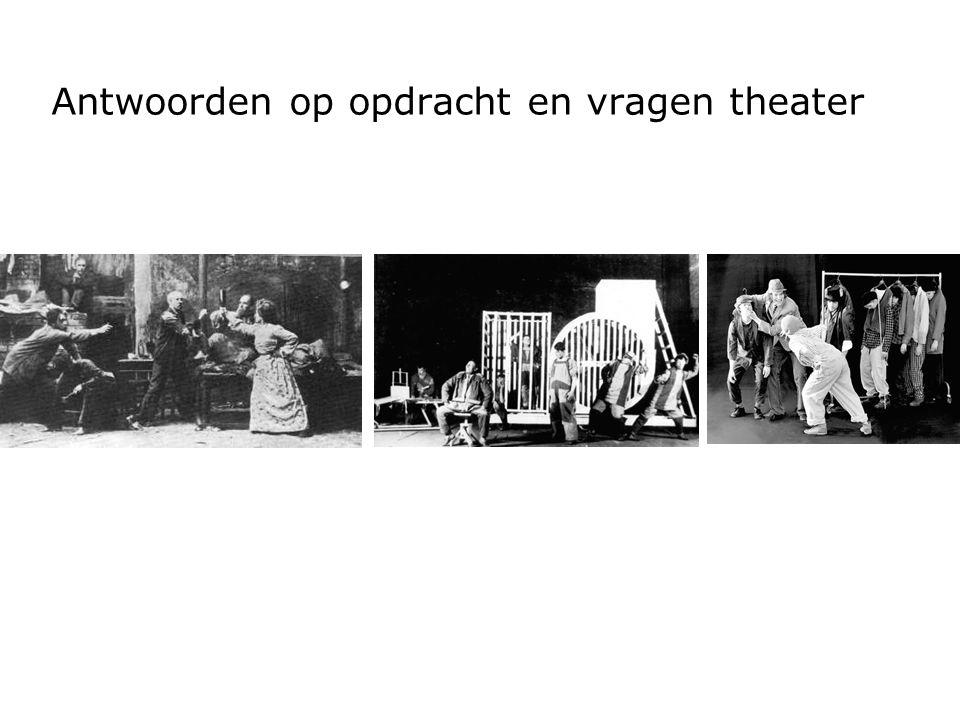 Antwoorden op opdracht en vragen theater