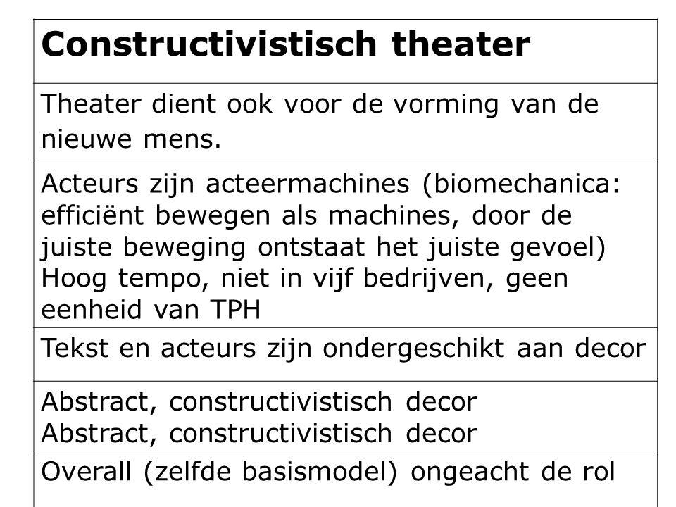 Constructivistisch theater