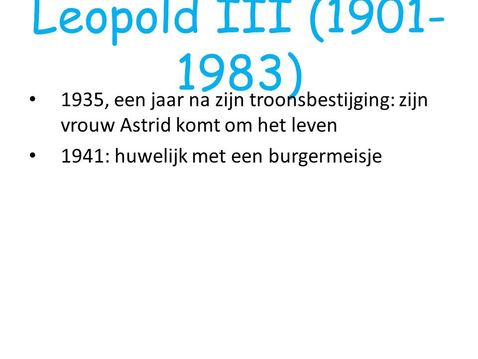 Leopold III (1901-1983) 1935, een jaar na zijn troonsbestijging: zijn vrouw Astrid komt om het leven.