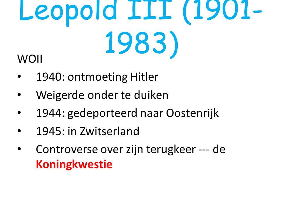Leopold III (1901-1983) WOII 1940: ontmoeting Hitler