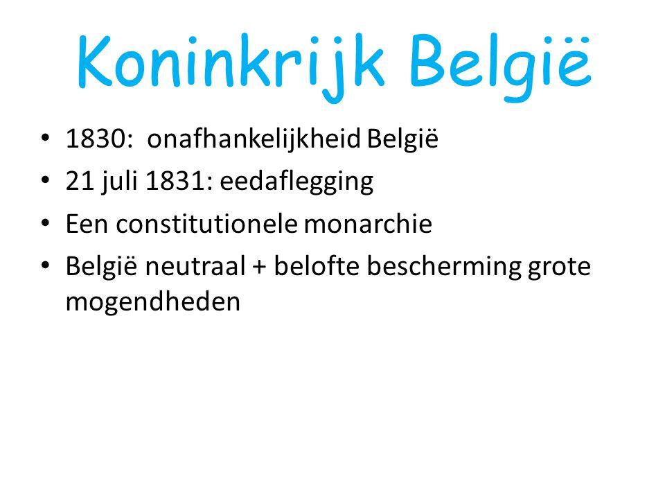 Koninkrijk België 1830: onafhankelijkheid België