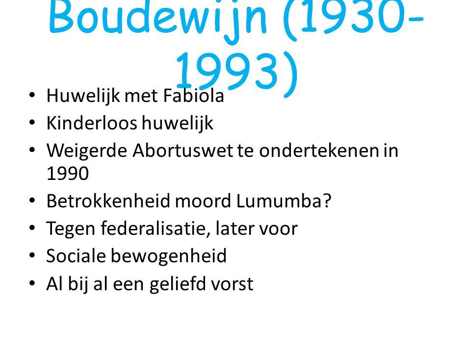 Boudewijn (1930-1993) Huwelijk met Fabiola Kinderloos huwelijk