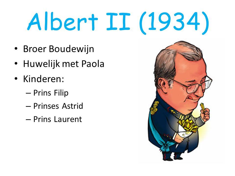 Albert II (1934) Broer Boudewijn Huwelijk met Paola Kinderen: