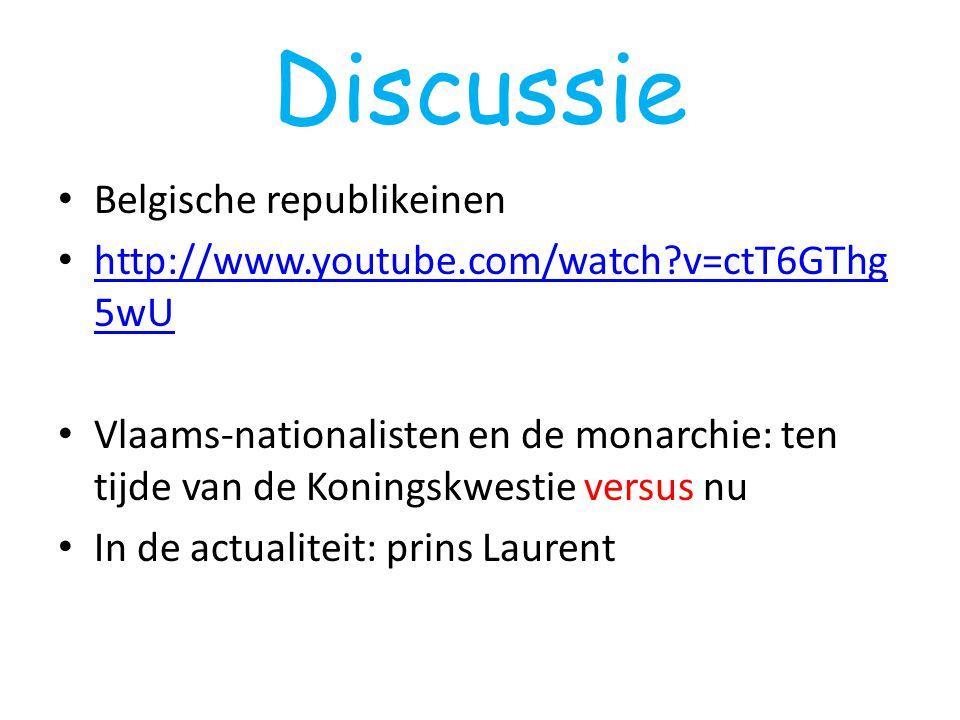 Discussie Belgische republikeinen