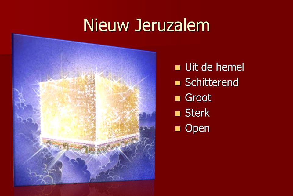 Nieuw Jeruzalem Uit de hemel Schitterend Groot Sterk Open