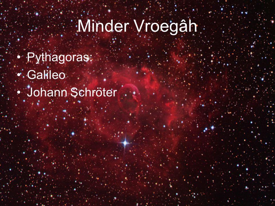 Minder Vroegâh Pythagoras: Galileo Johann Schröter