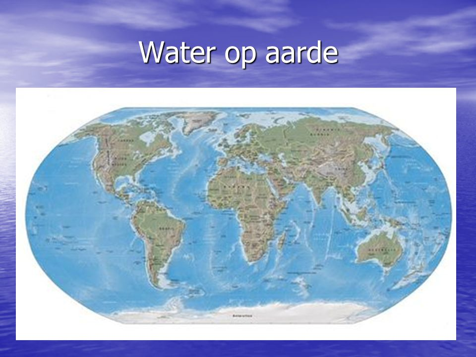 Water op aarde