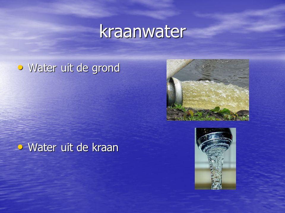 kraanwater Water uit de grond Water uit de kraan