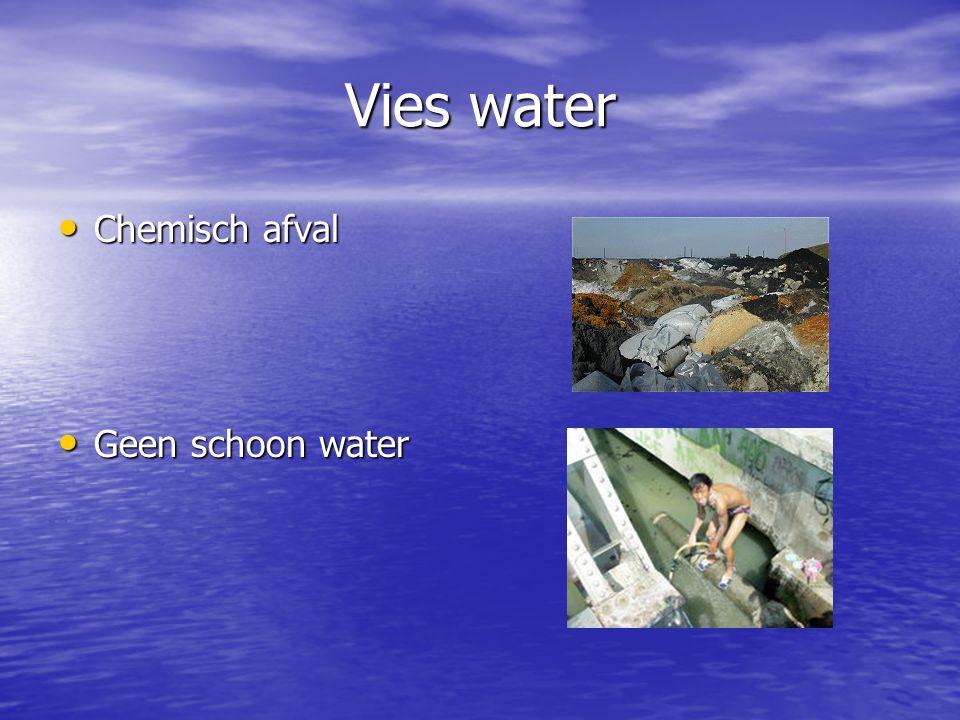 Vies water Chemisch afval Geen schoon water