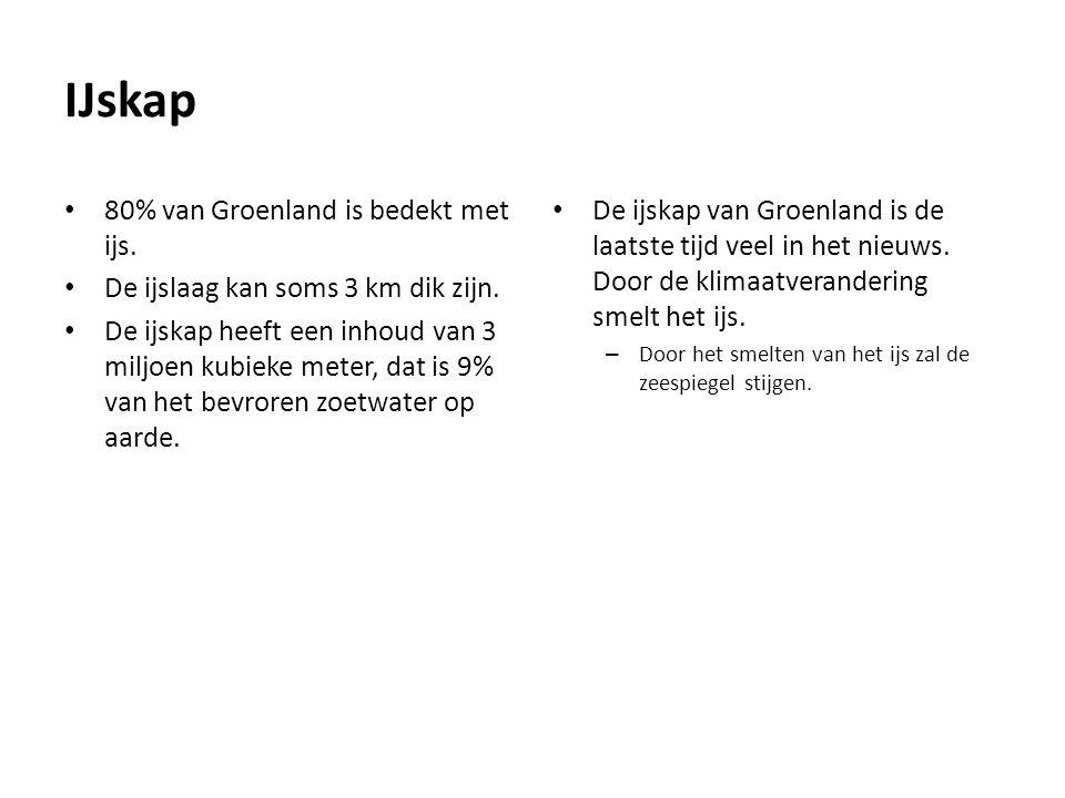 IJskap 80% van Groenland is bedekt met ijs.