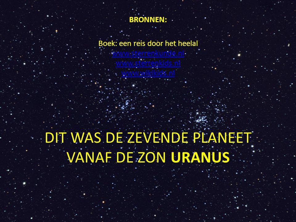 DIT WAS DE ZEVENDE PLANEET VANAF DE ZON URANUS