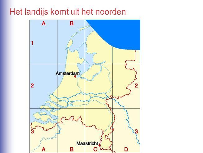 Het landijs komt uit het noorden