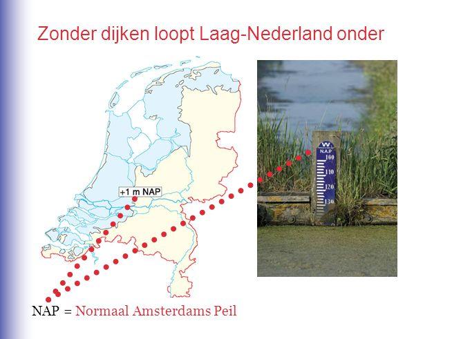 Zonder dijken loopt Laag-Nederland onder