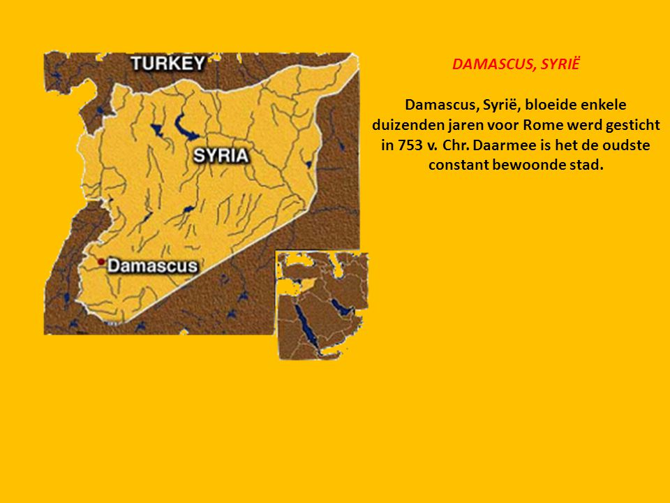 DAMASCUS, SYRIË