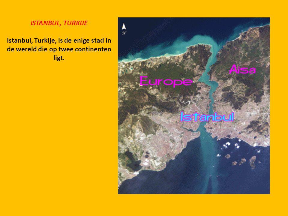 ISTANBUL, TURKIJE Istanbul, Turkije, is de enige stad in de wereld die op twee continenten ligt.