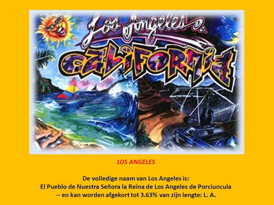 De volledige naam van Los Angeles is: