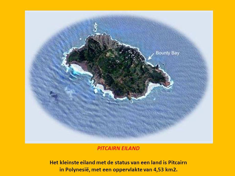 Het kleinste eiland met de status van een land is Pitcairn