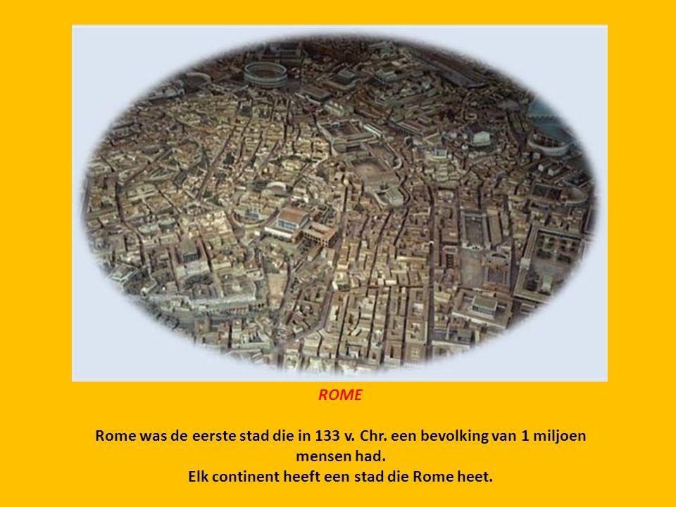 Elk continent heeft een stad die Rome heet.