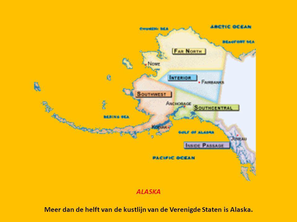 Meer dan de helft van de kustlijn van de Verenigde Staten is Alaska.