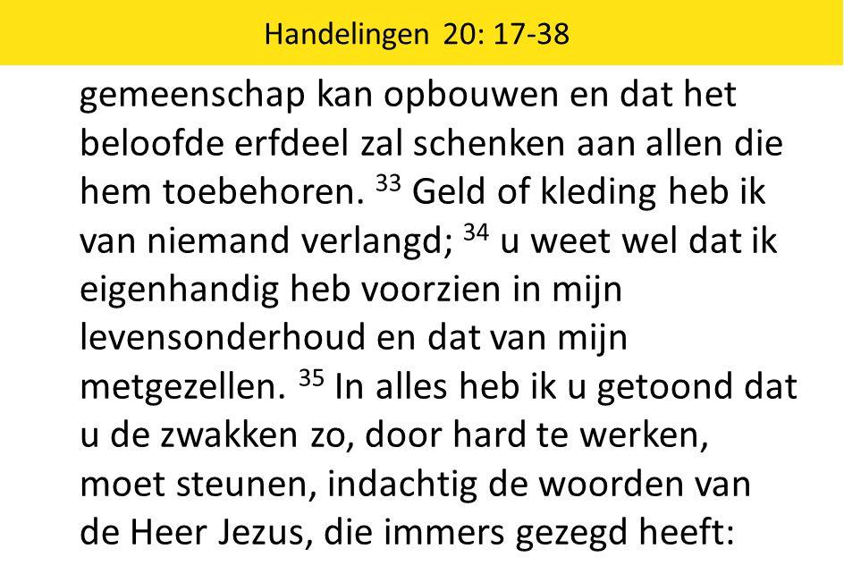 Handelingen 20: 17-38