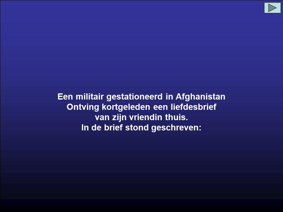 Een militair gestationeerd in Afghanistan