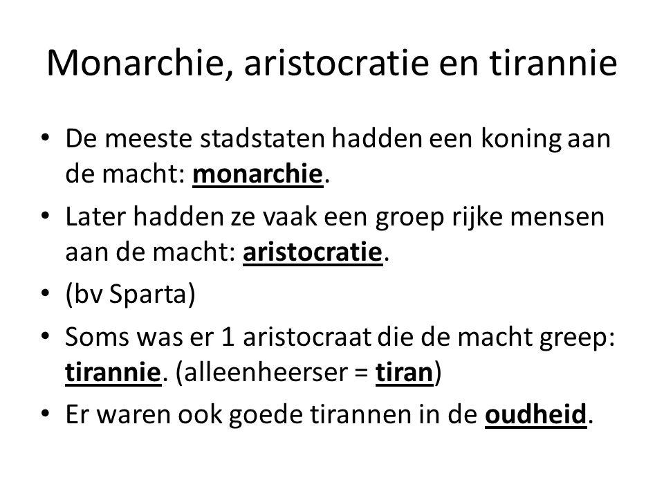 Monarchie, aristocratie en tirannie