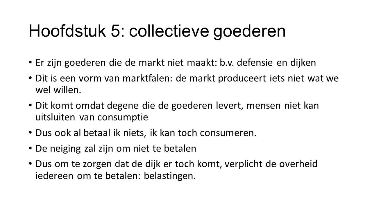 Hoofdstuk 5: collectieve goederen
