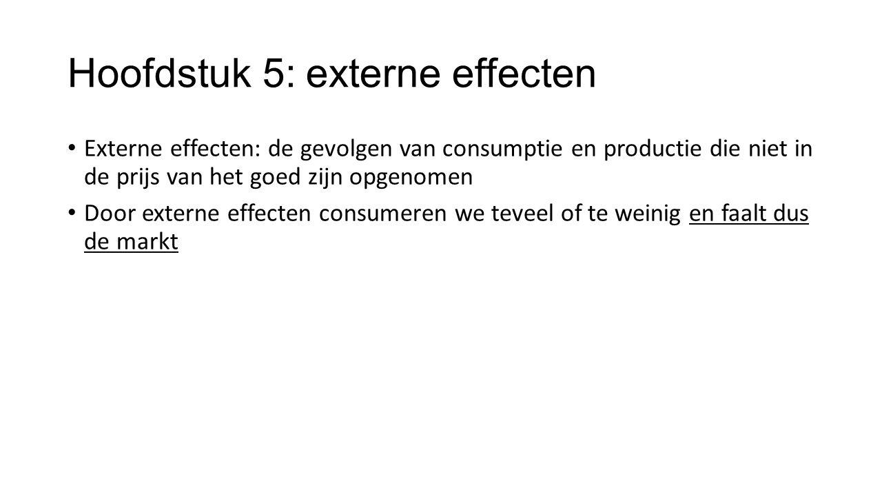Hoofdstuk 5: externe effecten