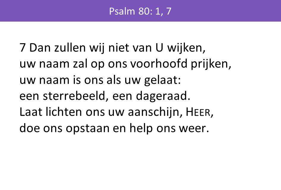 Psalm 80: 1, 7
