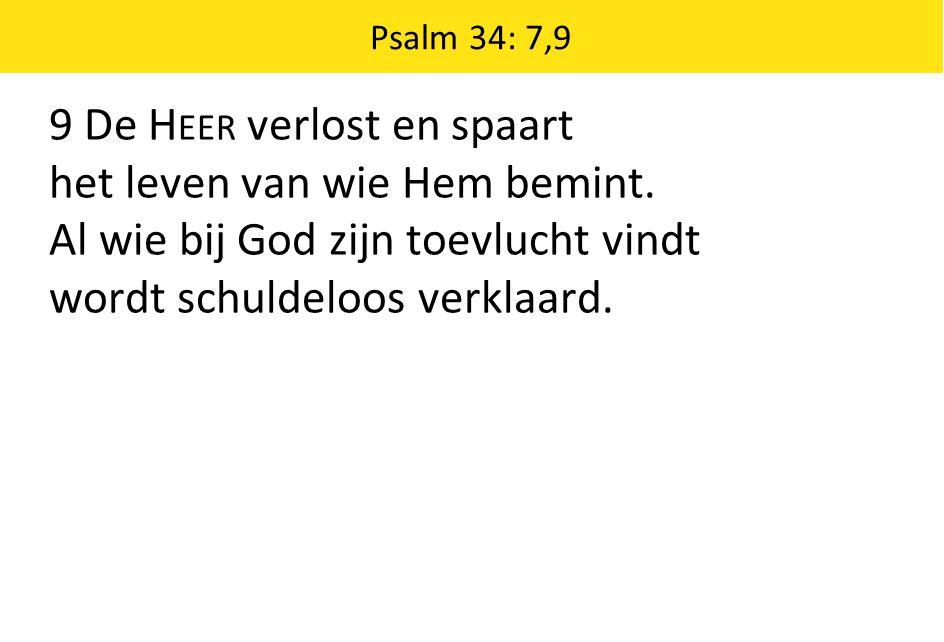 9 De Heer verlost en spaart het leven van wie Hem bemint.