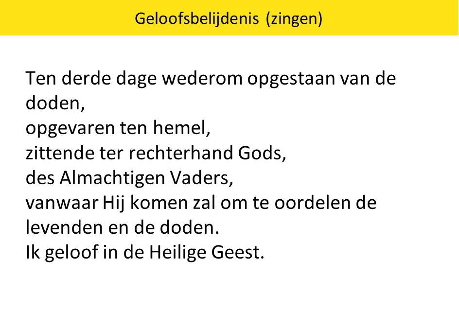 Geloofsbelijdenis (zingen)