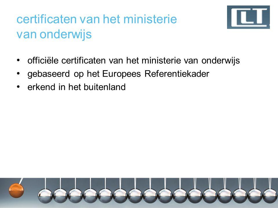 certificaten van het ministerie van onderwijs