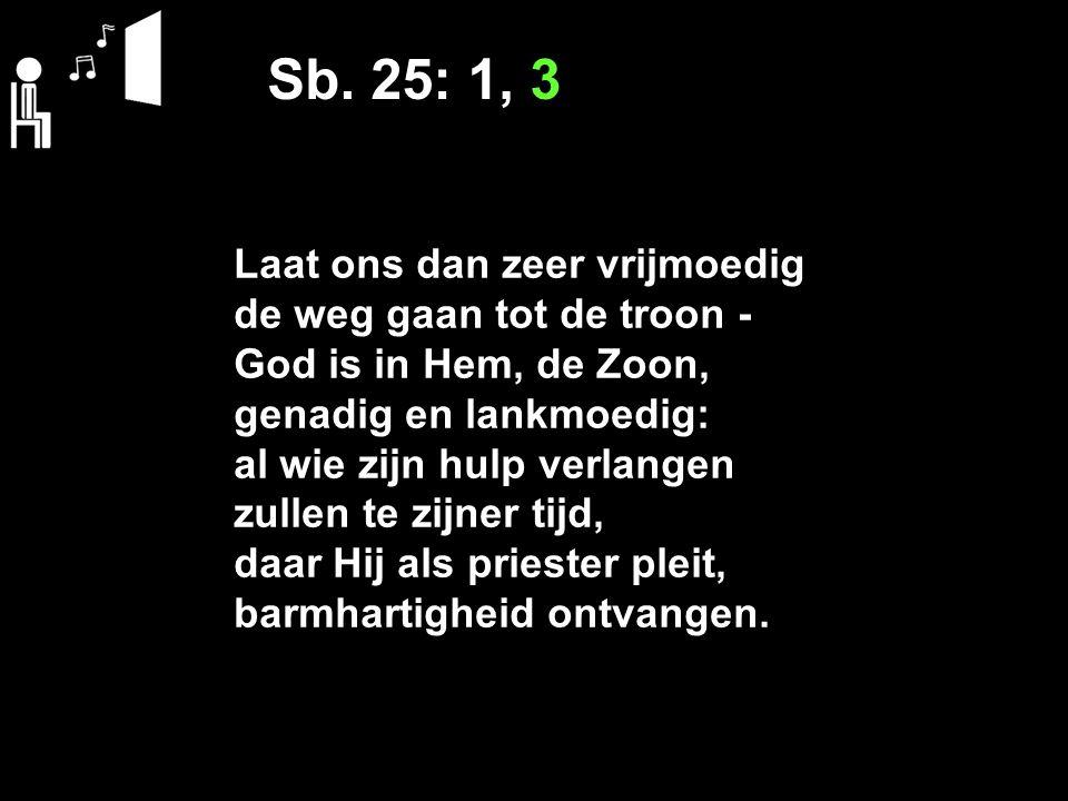 Sb. 25: 1, 3