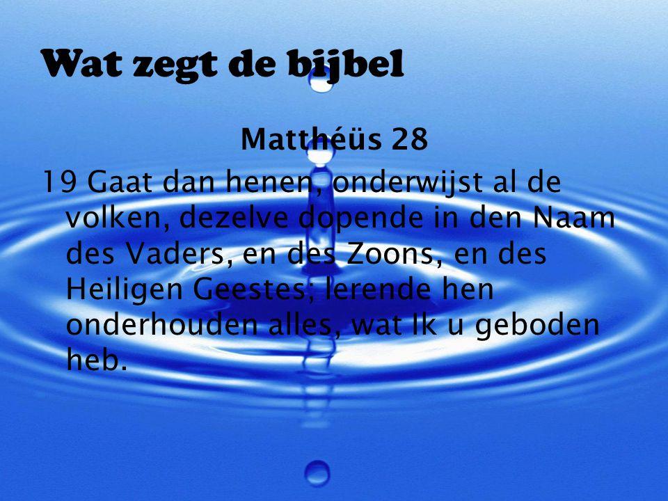 Wat zegt de bijbel Matthéüs 28