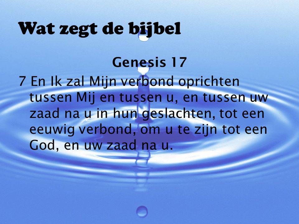 Wat zegt de bijbel Genesis 17