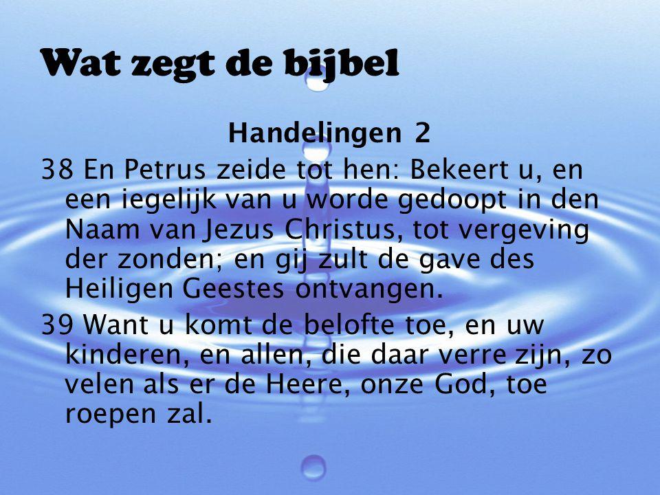 Wat zegt de bijbel Handelingen 2