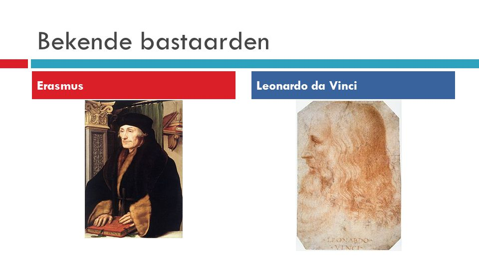 Bekende bastaarden Erasmus Leonardo da Vinci