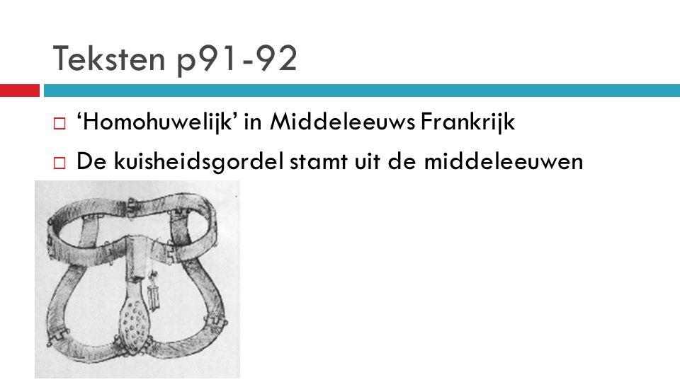 Teksten p91-92 'Homohuwelijk' in Middeleeuws Frankrijk