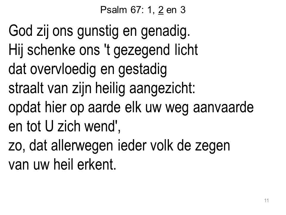 Psalm 67: 1, 2 en 3