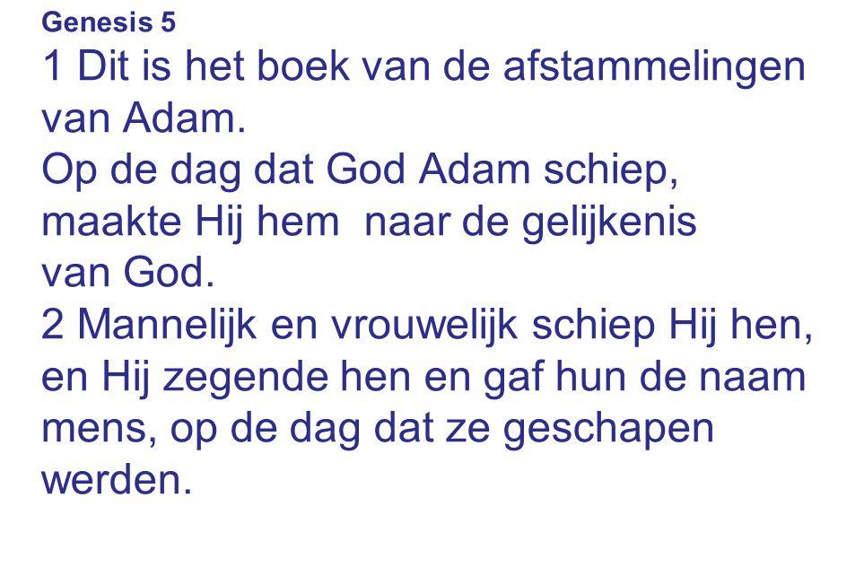 1 Dit is het boek van de afstammelingen van Adam.