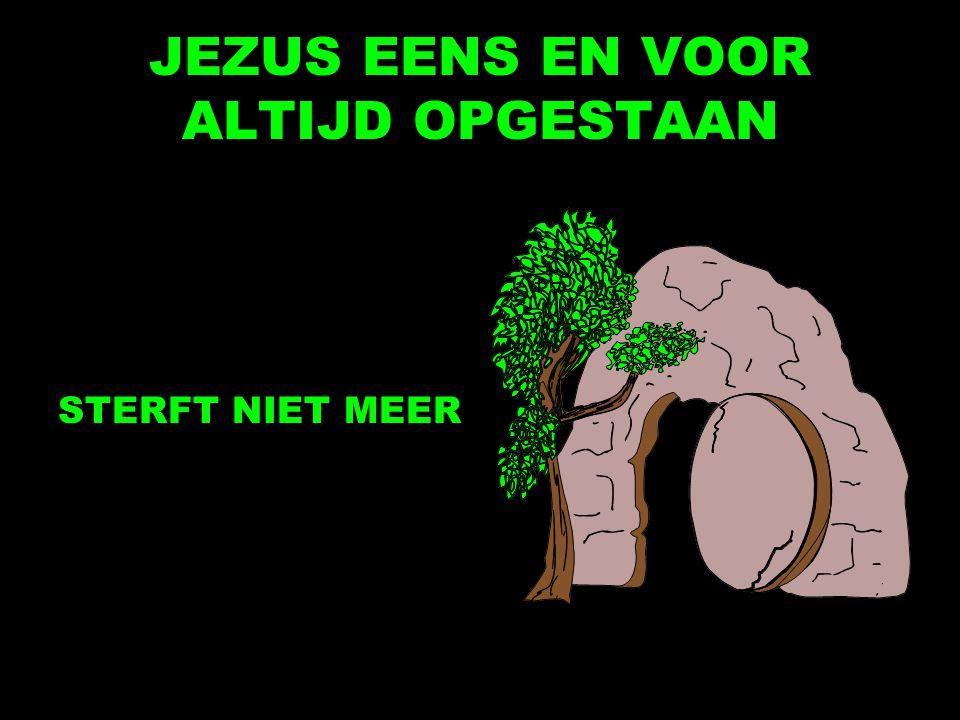 JEZUS EENS EN VOOR ALTIJD OPGESTAAN