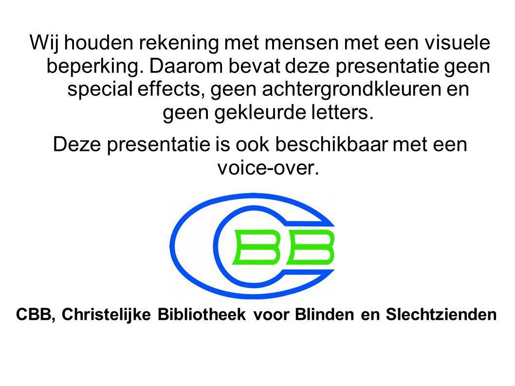 Deze presentatie is ook beschikbaar met een voice-over.