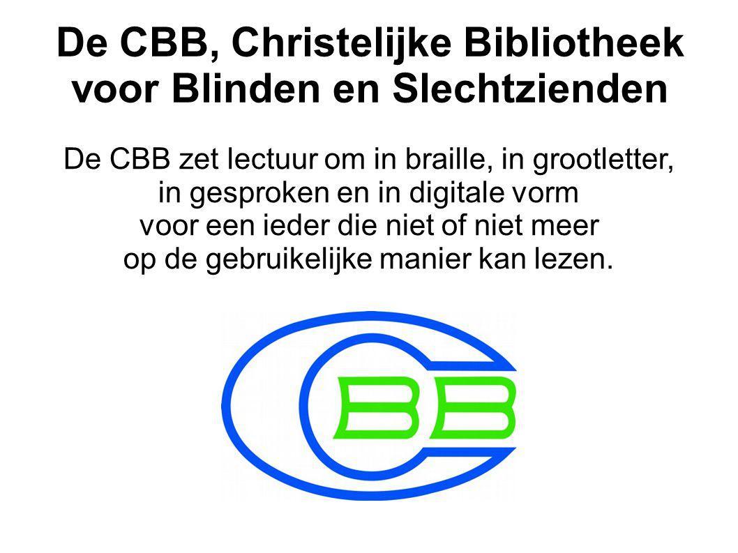 De CBB, Christelijke Bibliotheek voor Blinden en Slechtzienden