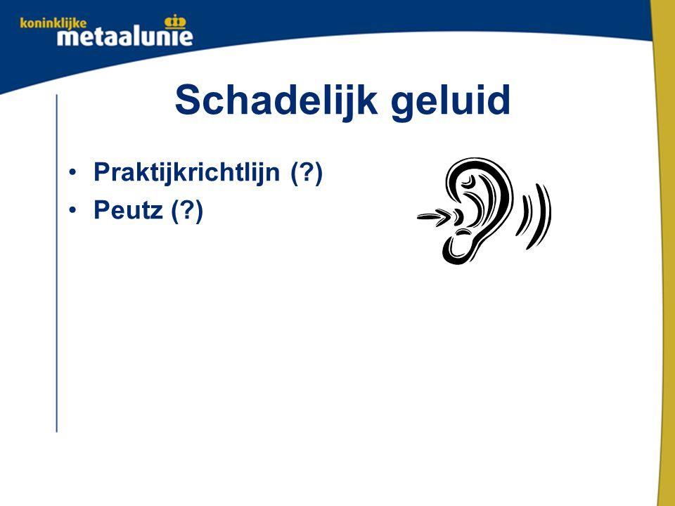 Schadelijk geluid Praktijkrichtlijn ( ) Peutz ( )