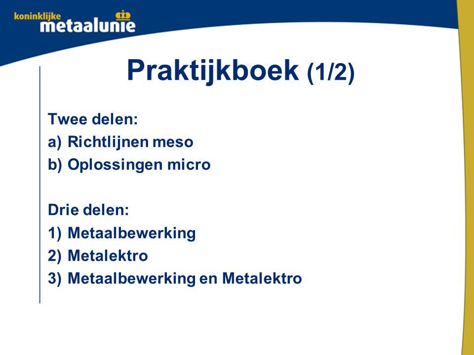 Praktijkboek (1/2) Twee delen: Richtlijnen meso Oplossingen micro