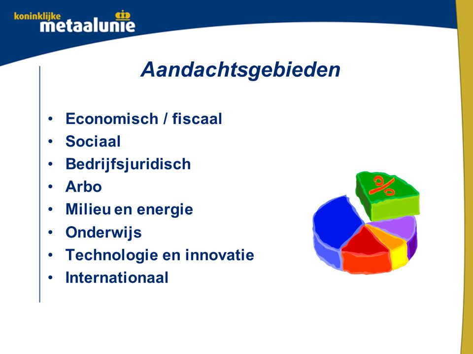 Aandachtsgebieden Economisch / fiscaal Sociaal Bedrijfsjuridisch Arbo