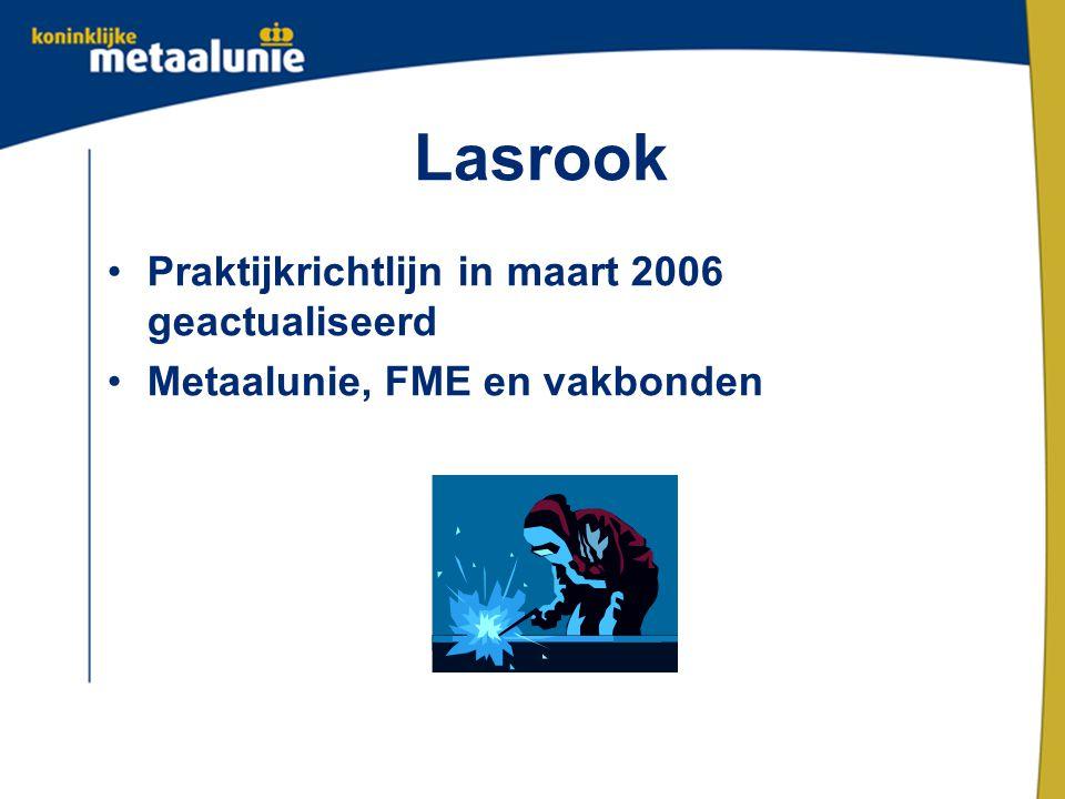 Lasrook Praktijkrichtlijn in maart 2006 geactualiseerd