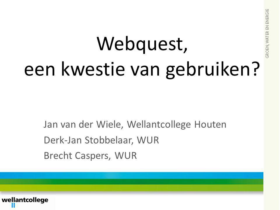 Webquest, een kwestie van gebruiken
